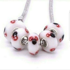 ❤ Disney Mickey Murano glass beads.